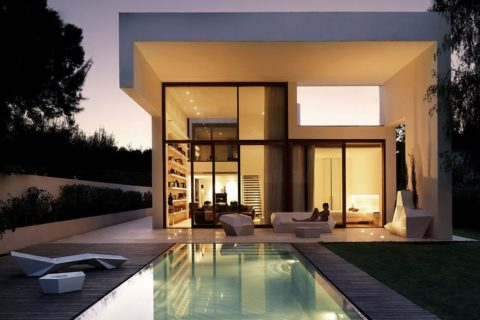 Modern house with outdoor pool
