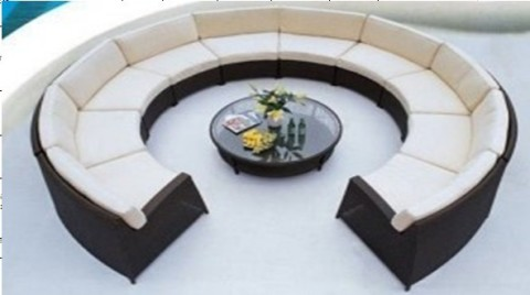 Best Modern Rounded Sofa Interior Performance