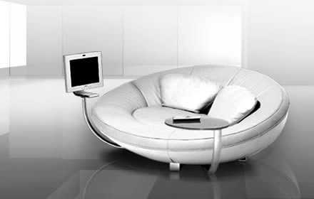 Minimalisat and Modern Rounded Sofa Interior