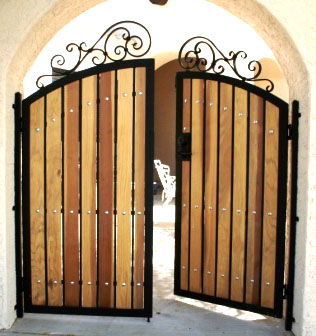 a Simple Gate Concept which made from Wooden Material