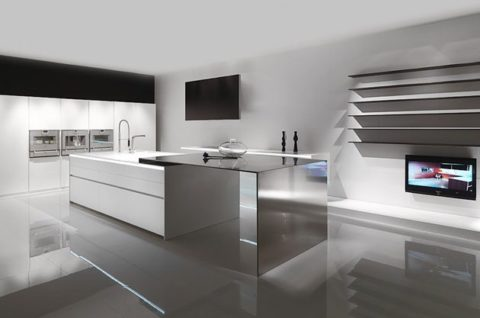 Minimalist kitchen with best lighting