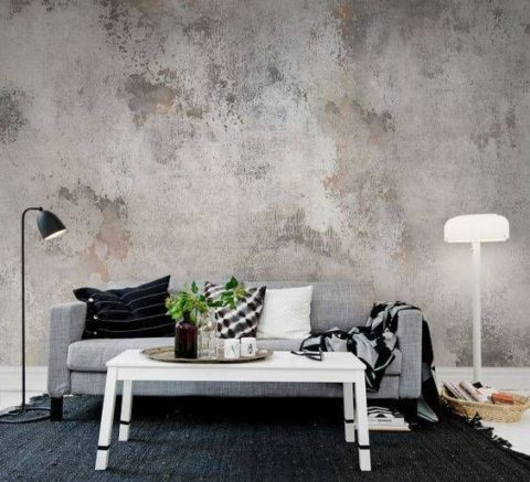 Abstract wallpaper for living room