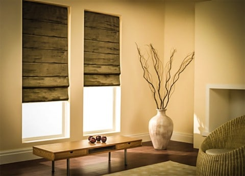 roman blinds for rustic home