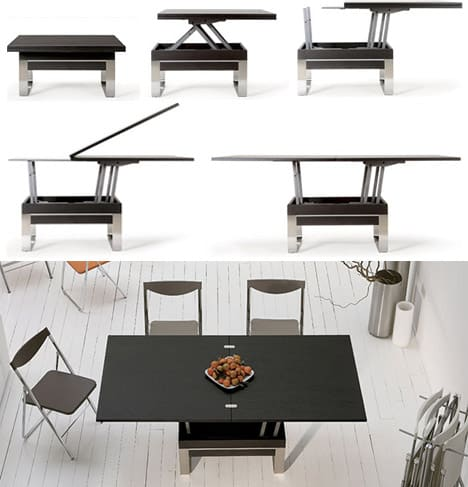 Convertible dining tables