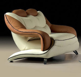 White Brown Combination of Love Seat