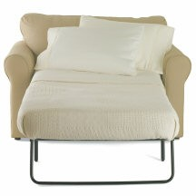 Soft Brown and White sleeper chair color