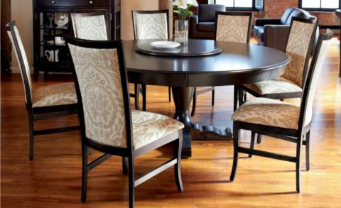 modern round dining table ideas