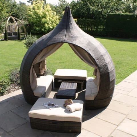 peach outdoor daybed