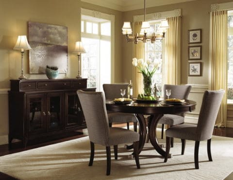 round dining table for classical home