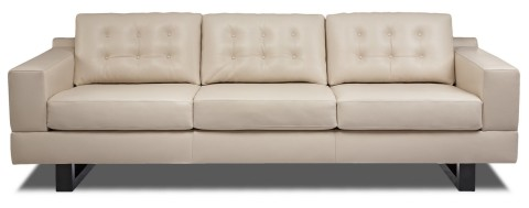 Creamy White Leather Couch