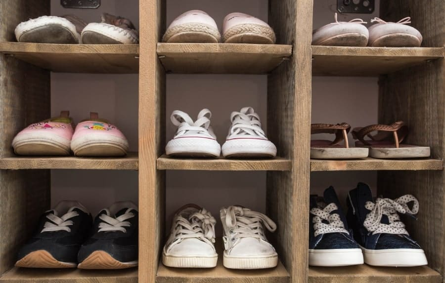 Shoe rack storage
