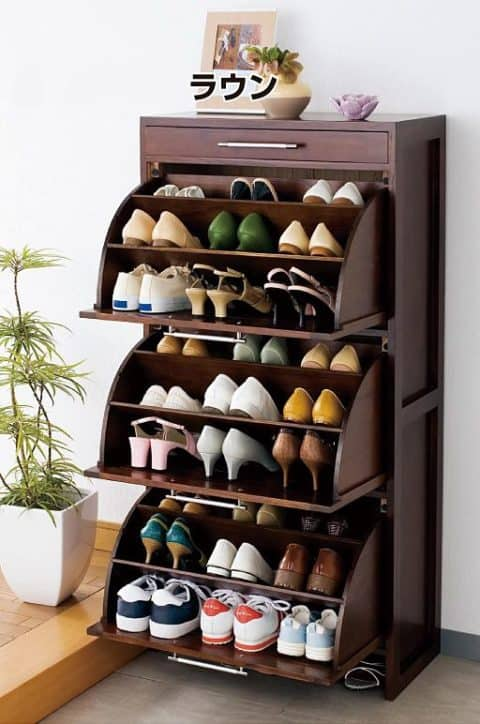 shoe rack with cupboard style