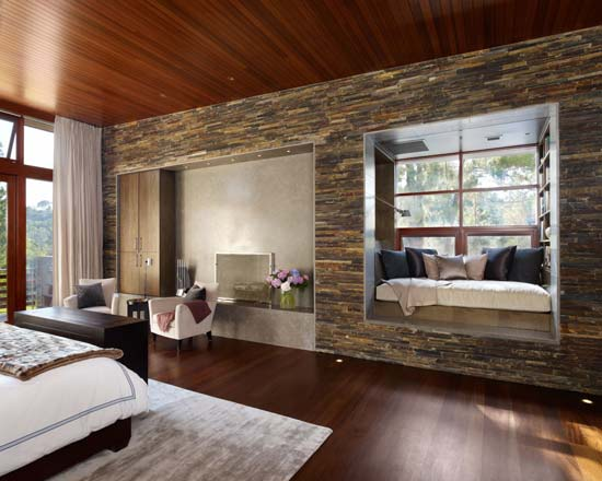 Stone Wall Give Natural Effect at Our Room