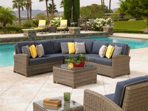 outdoor furniture with matching cushions