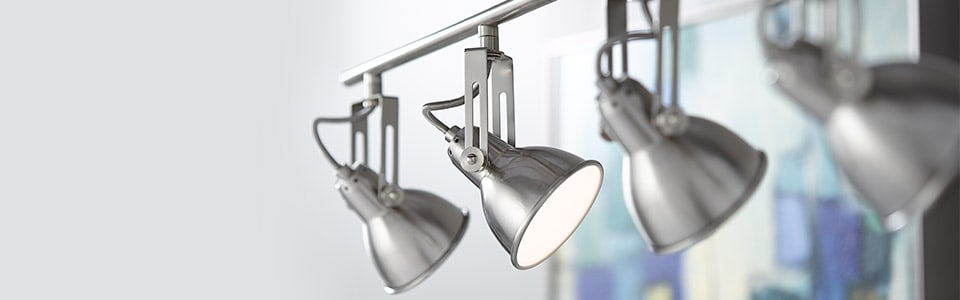 Track lighting with steel material