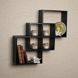 wall shelves in square shape