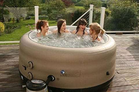 Small hot tub size