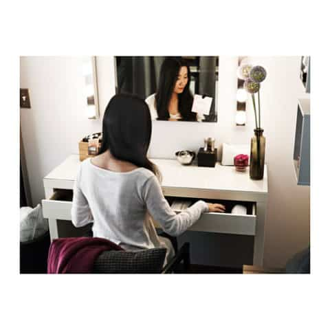 White dressing table by ikea