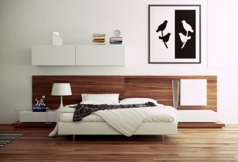 Modern Bedroom with white furniture