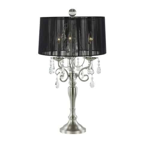 Chandelier lamp with black shade