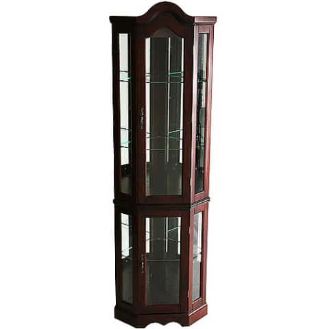 dark brown Curio Cabinets color