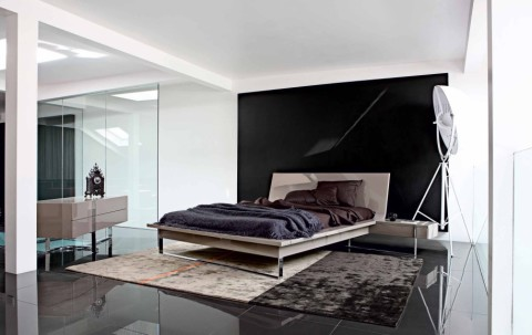 Minimalist Bedroom with black theme