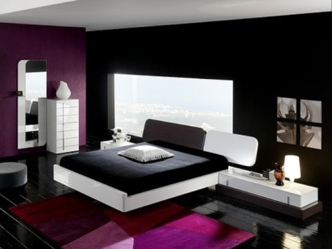 Black and White Minimalist Bedroom