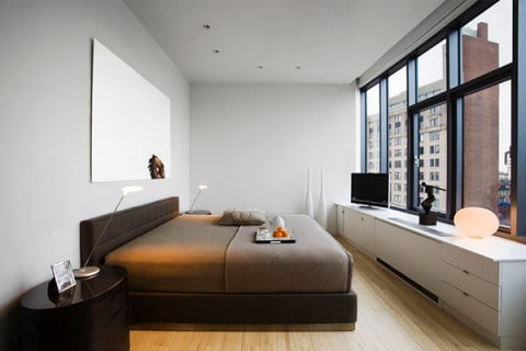 Minimalist style Bedroom with natural concept