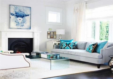 modern living room with fresh colors