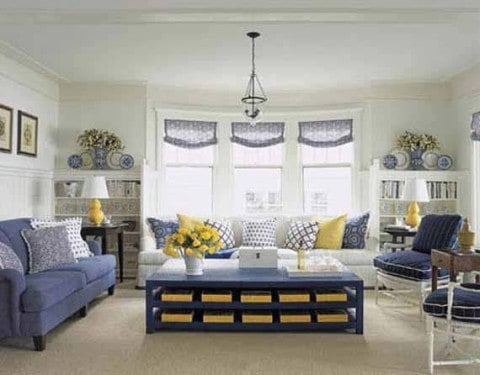 Smart living room with chic furniture