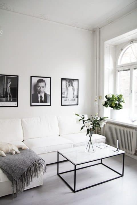 Minimalist living room for small space