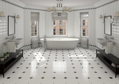 Bathroom Tiles for classic concept