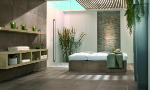 Minimalist Bathroom with natural and fresh concept