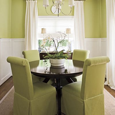 fresh green Small Dining Room