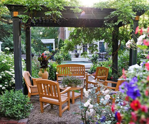 Small garden with sitting place