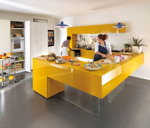 Smartest Kitchen with bright color