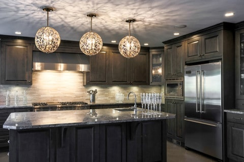 Kitchen Lighting with unique lamp