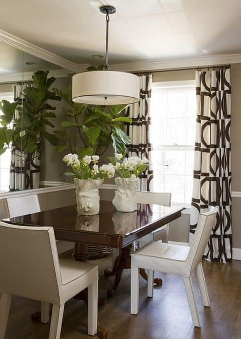 Small dining room interior