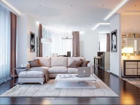 Comfortable apartment living room