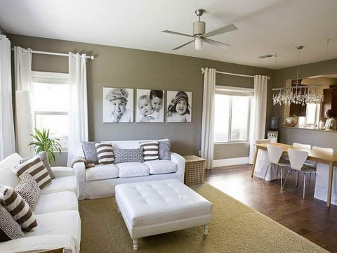 living room paint ideas with white sofa