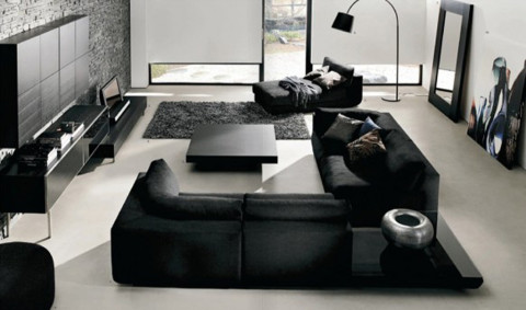 off black Living Room Sets color