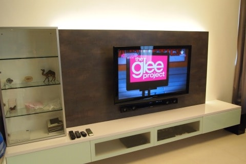 TV Console with white color