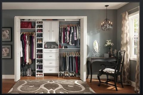 wall closet with stylish concept