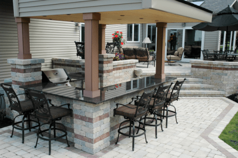 minimalist Outdoor bar ideas