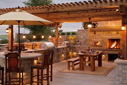 Outdoor bar lighting design