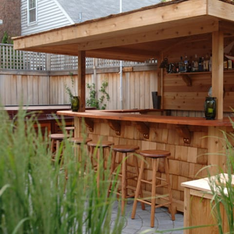 Outdoor bar with natural concept