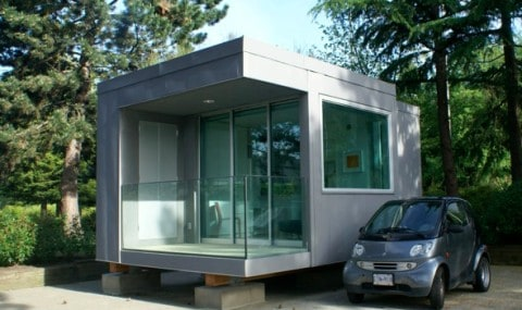 Compact House with glass detail