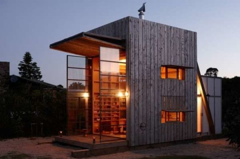 Compact House with romantic lighting