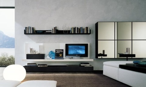 Wall Unit with simple design
