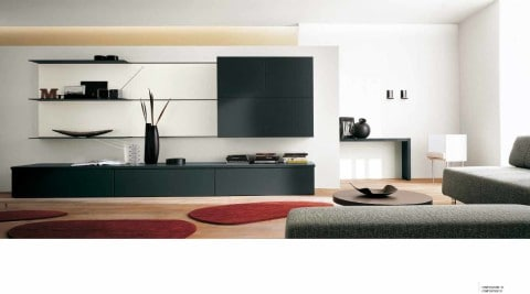 black and white Wall Units color